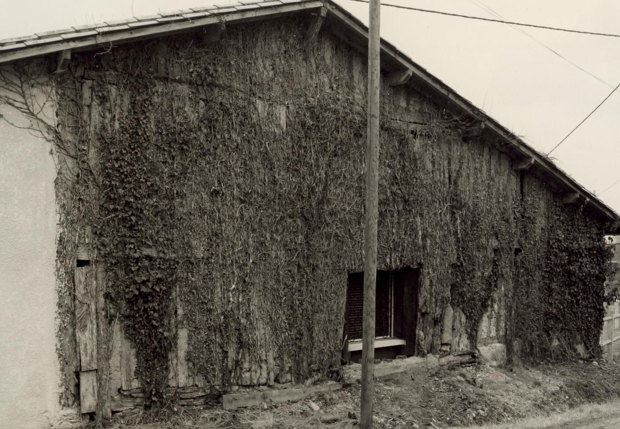 Chamadelle, une grange en torchis au lieu-dit Teurlay