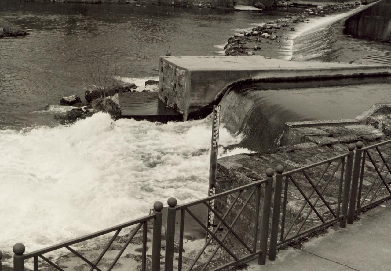 Coutras, le barrage sur la Dronne