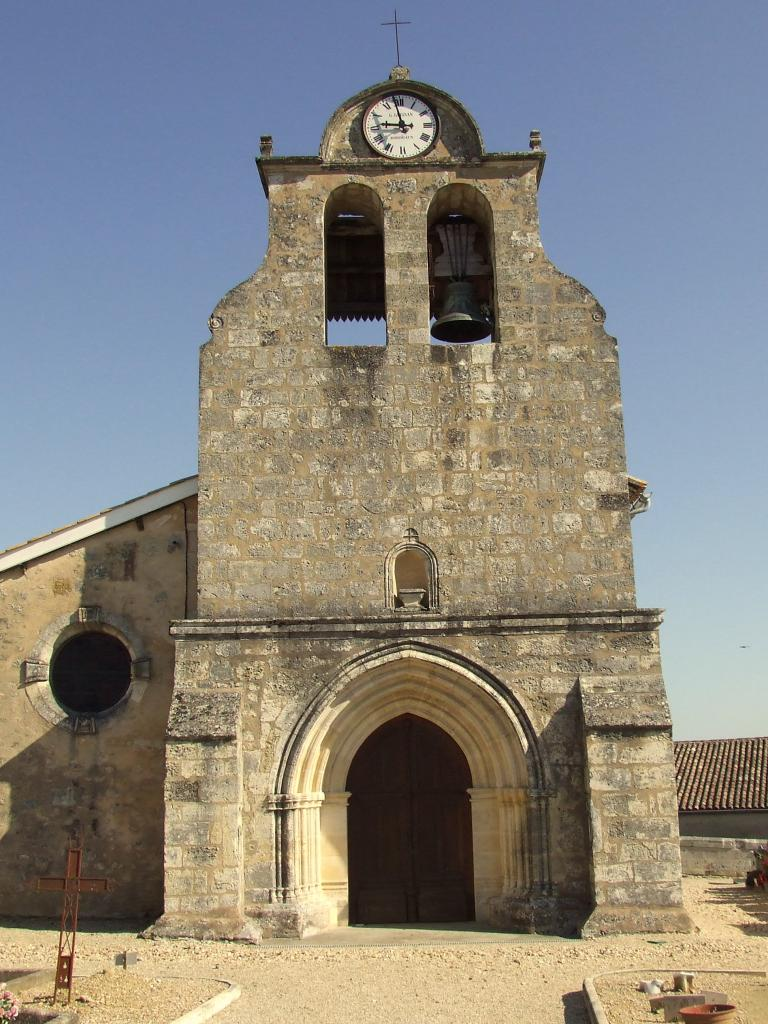 Saillans, l'église Saint-Seurin, 14ème siècle, fond roman