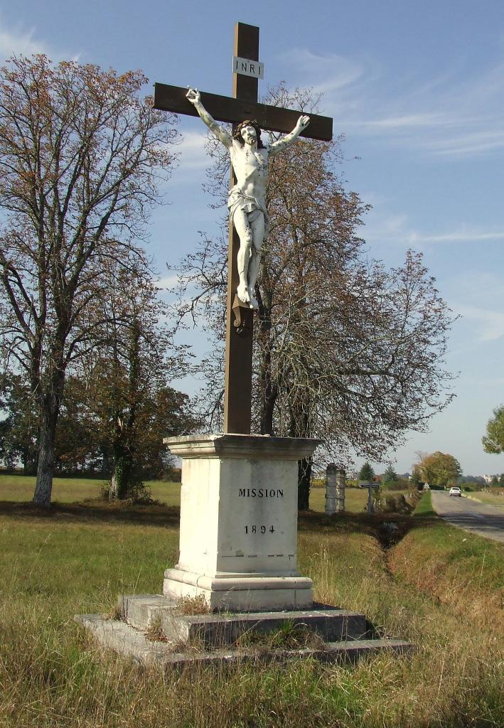 Villegouge, une croix de mission 1894
