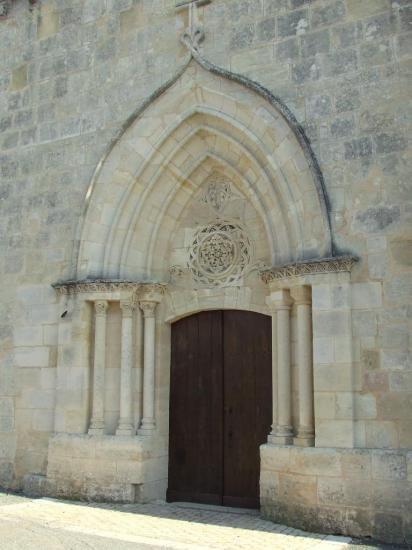 Vérac, le portail de l'église Saint-Cybard
