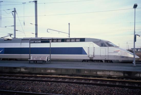 Paris-la Baule: TGV en gare de Saint-Nazaire