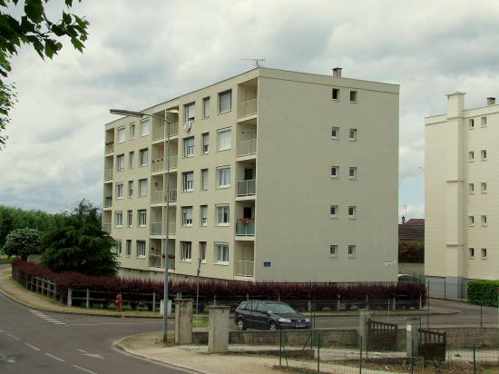 Migennes, autre vue de la cité HLM.