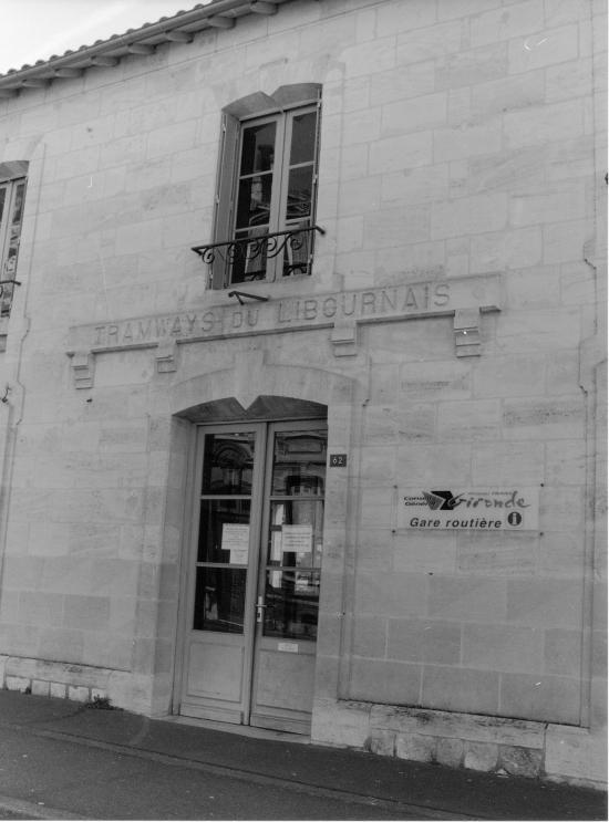 Libourne, l'ancien arrêt du tramway
