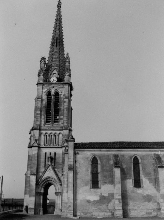 Génissac, l'église Saint-Martin.