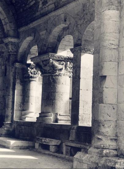 La Sauve, l'Abbaye de la Sauve-Majeure, le cloître.