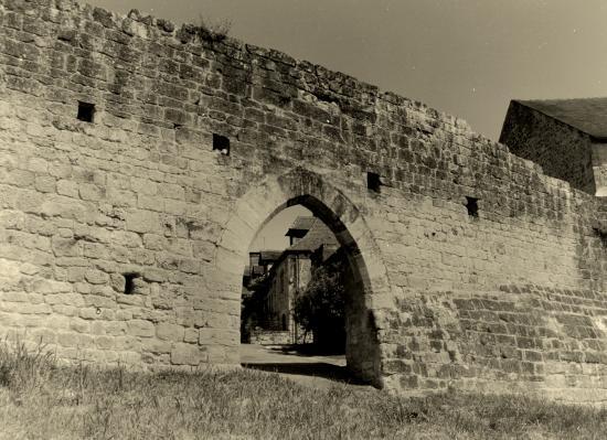 Domme, fortification et porte d'accès.