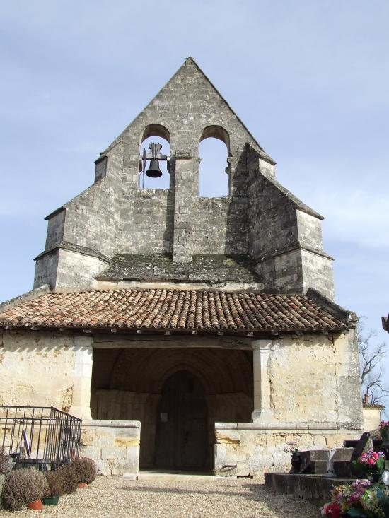 Lugaignac, l'église romane Saint-Martin.