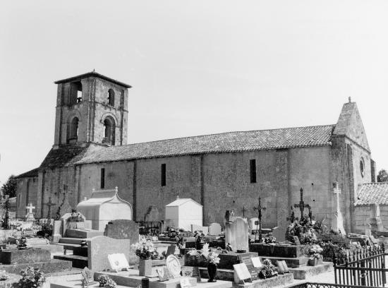 Saint-Emilion, l'église de Saint-Martin-de-Mazerat.