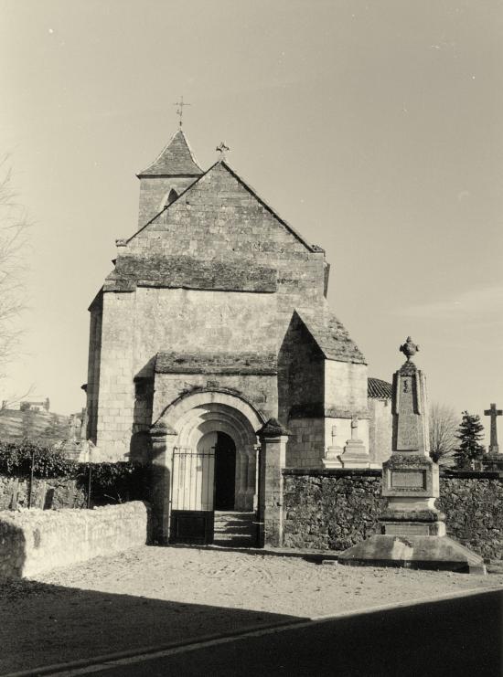 Saint-Etienne-de-Lisse, l'église.