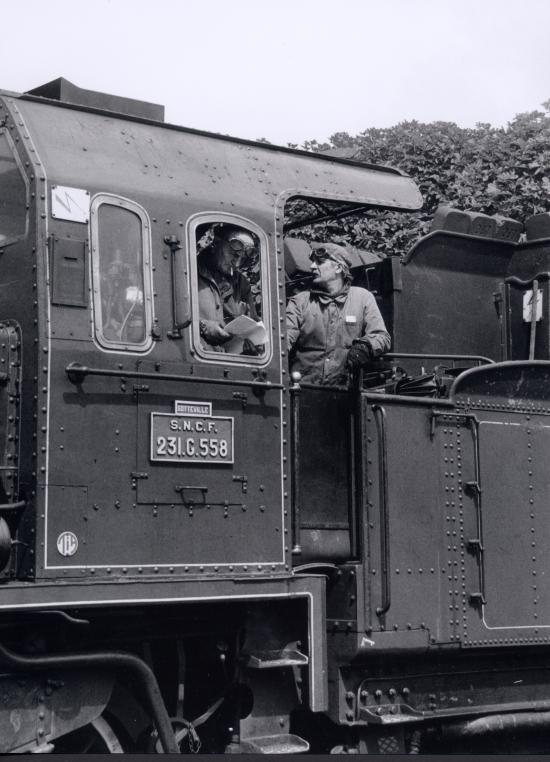 Auxerre, le train à vapeur.