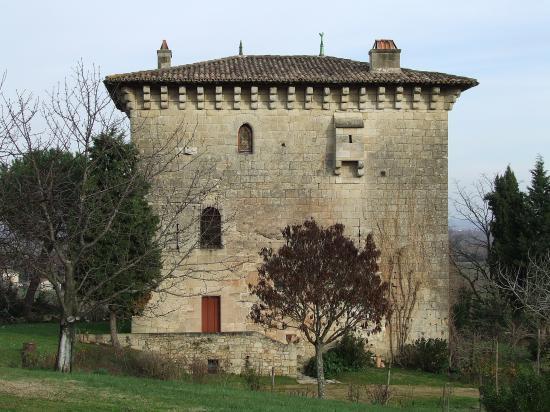 Moulon, la tour de l'Ansouhaite.