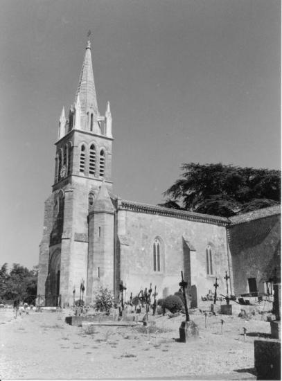 Bonzac, l'église Saint-Genès-de-Bonzac.