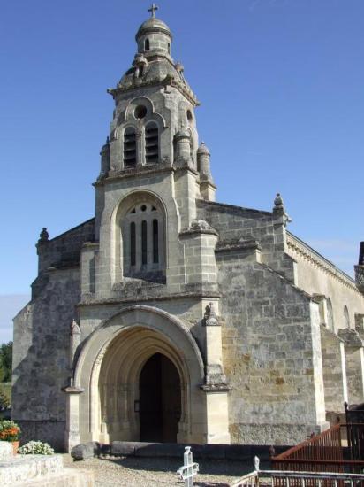 Baron, l'église romane Saint-Christophe