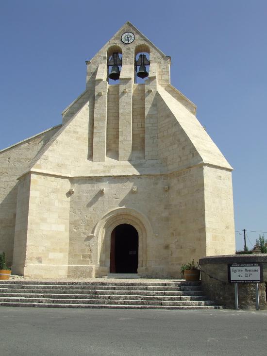 Saint-Quentin-de-Baron, l'église Saint-Quentin,