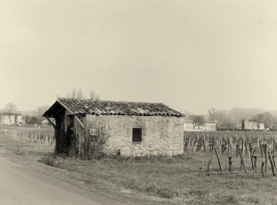 Saint-Etienne-de-Lisse, une cabane de vigne.