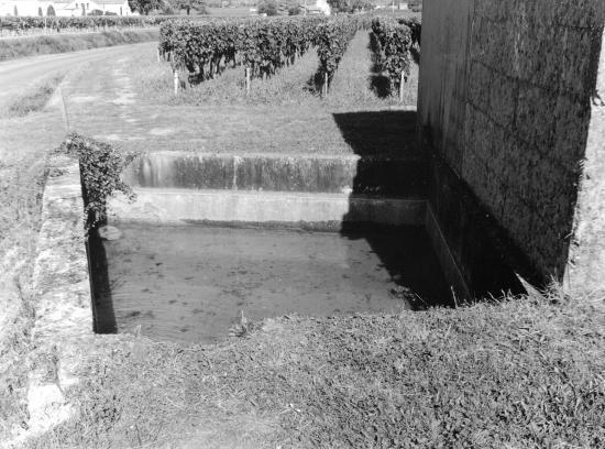 Saint-Emilion, un lavoir au lieu-dit Larmande.