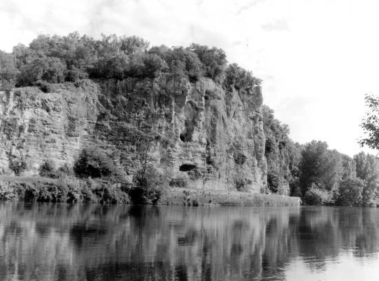 Vitrac, reflets sur la Dordogne.