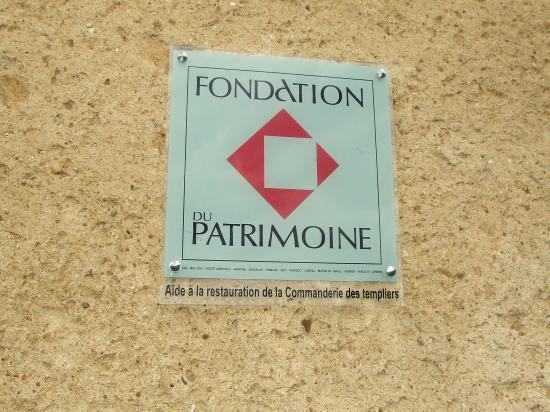 notre mécène: la Fondation du Patrimoine