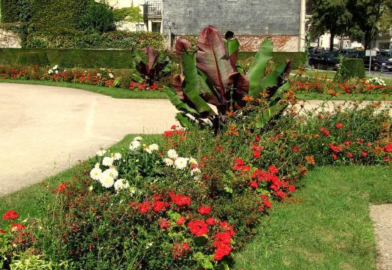 Parterre de fleurs aux Monument aux Morts.