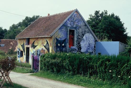 le peintre et photographe Chop, à Hérisson dans l'Allier.